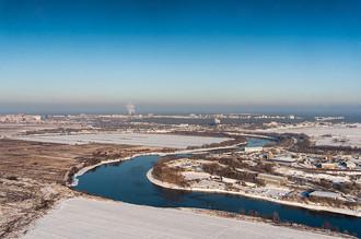 Вид на город Жуковский Московской области
