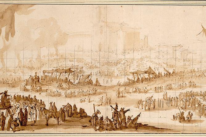 Жак Калло. Ярмарка у Санта Мария делла Импрунета под Флоренцией. Около 1620 года