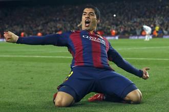 Луис Суарес после победного гола