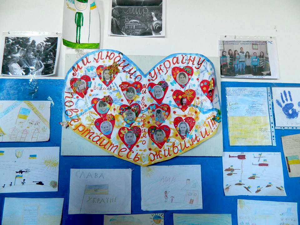 Рисунки на стене в расположении 131-го батальона