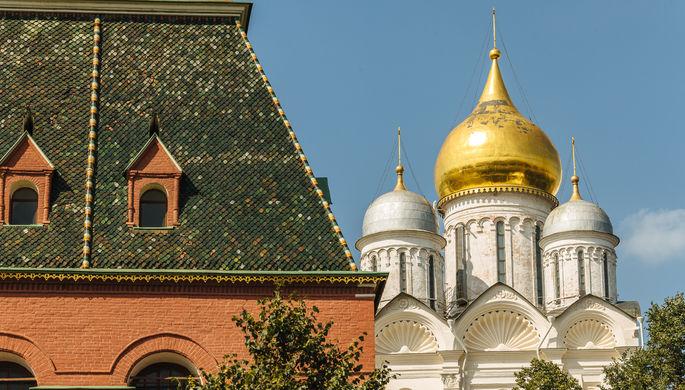 C Кремля слетела позолота