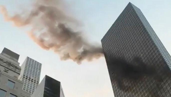 Пожар в Трамп-тауэр в Нью-Йорке, 8 января 2018 года