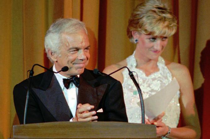 Ральф Лорен и принцесса Диана, 1996 год