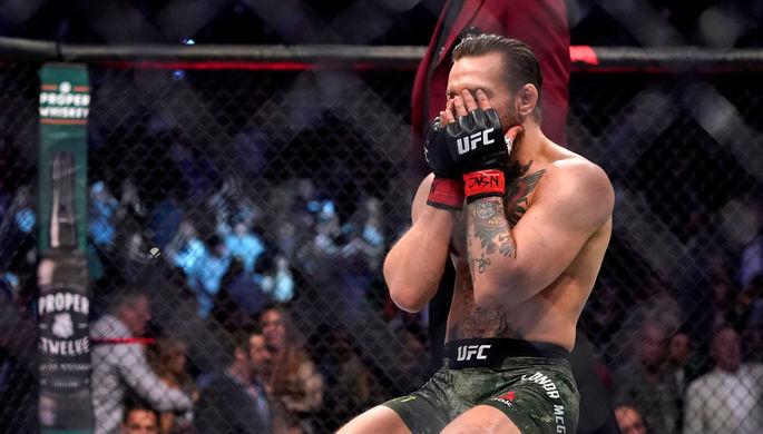 Ирландский боец Конор Макгрегор во время поединка на турнире UFC 246 в Лас-Вегасе