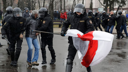 Сотни человек задержаны в Минске во время акции протеста