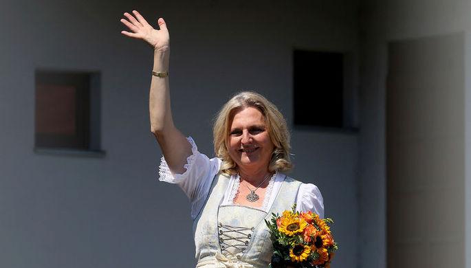 Свадьба министра иностранных дел Германии Карин Кнайсль и Вольфганда Майлингера в Гамлице, Австрия...