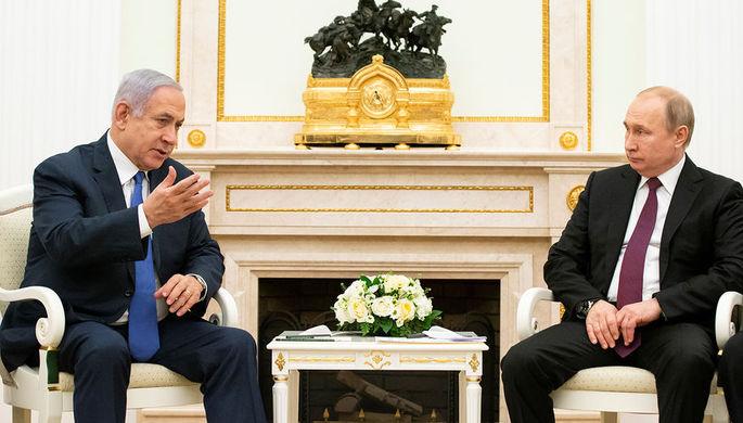Премьер-министр Израиля Биньямин Нетаньяху и президент России Владимир Путин во время встречи в Кремле, 4 апреля 2019 года