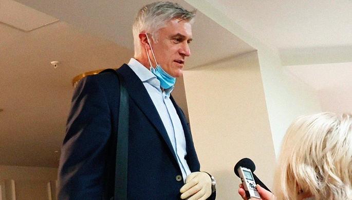 Основатель инвестиционного фонда Baring Vostok Майкл Калви после оглашения решения Верховного суда об освобождении из-под домашнего ареста, 12 ноября 2020 года