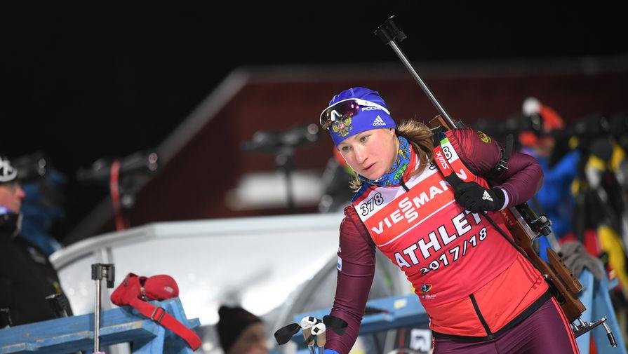 Биатлонистка Ольга Подчуфарова
