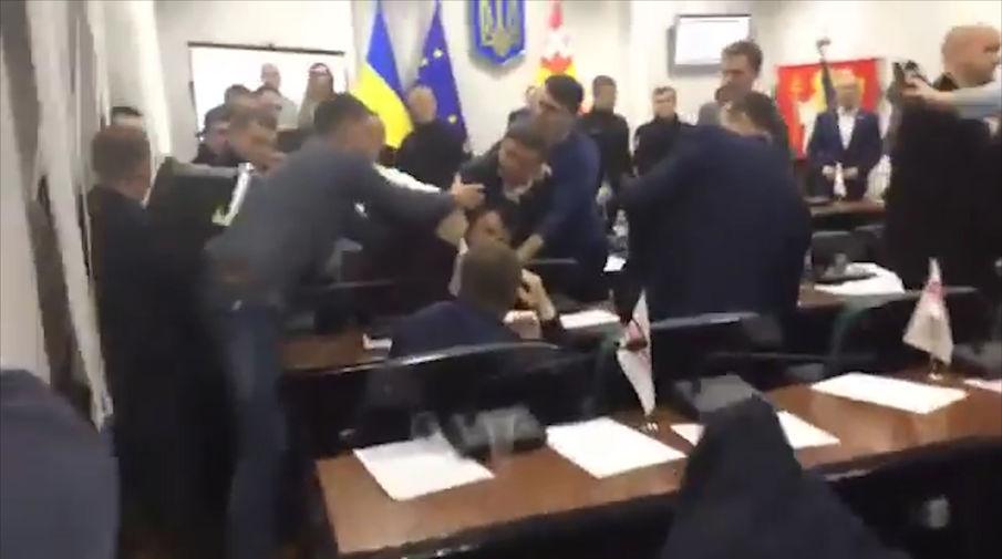 В Луцке подрались депутаты горсовета