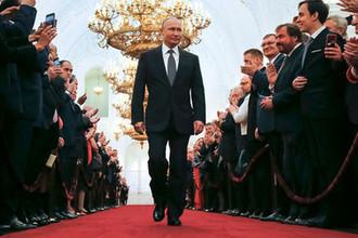 Президент России Владимир Путин во время церемонии инаугурации в Кремле, 7 мая 2018 года