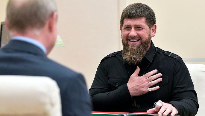 Глава Чеченской Республики Рамзан Кадыров во время встречи с президентом РФ Владимиром Путиным, 31 августа 2019 года