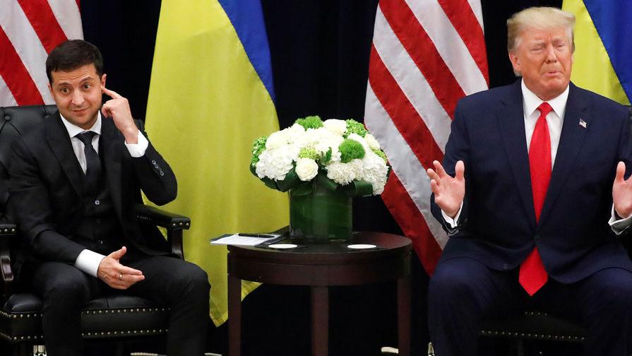 Президент Украины Владимир Зеленский и президент США Дональд Трамп во время встречи, 25 сентября 2019 года