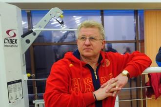 Тренер вратарей в молодежной сборной России Владимир Мышкин
