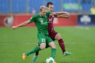«Рубин» не без труда обыграл «Томь» в матче 17-го тура чемпионата России по футболу