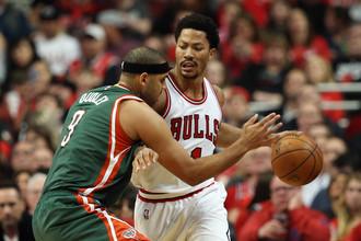 23 очка Деррика Роуза принесся «Чикаго» победу над «Милуоки» в первом матче серии 1/8 финала плей-офф НБА