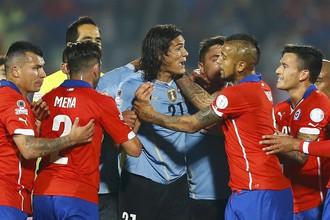 Удаление Эдинсона Кавани привело к вылету Уругвая с Кубка Америки