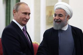Президент РФ Владимир Путин и президент Ирана Хасан Роухани