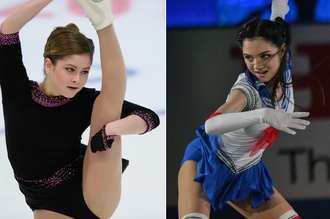 Юлия Липницкая и Евгения Медведева