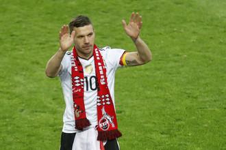 Лукаш Подольски попрощался со сборной Германии победным голом
