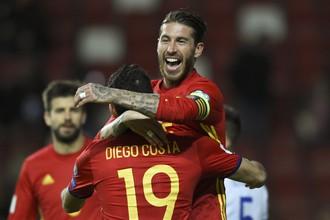 Сборная Испании разгромила национальную команду Израиля в матче отборочного турнира на чемпионат мира по футболу — 2018