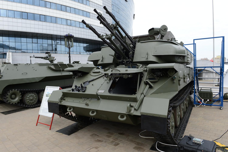 Модернизированная на белорусских предприятиях зенитная самоходная установка ЗСУ-23-4БМ «Шилка».