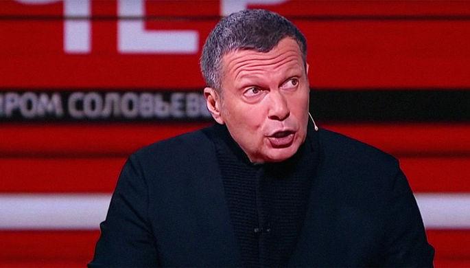 Кадр из эфира программы «Вечер с Владимиром Соловьевым»