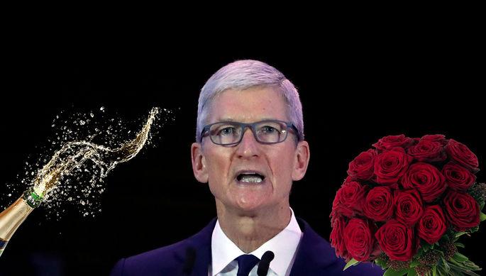 Пришел домой с шампанским: за главой Apple охотится мужчина