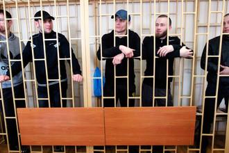 Участники банды «приморских партизан» Владимир Илютиков, Роман Савченко, Максим Кириллов, Александр Ковтун и Алексей Никитин (слева направо)