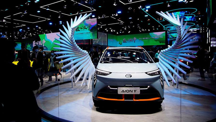Электромобиль GAC Aion Y на Шанхайском автосалоне, апрель 2021 года