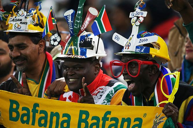 Болельщики сборной ЮАР