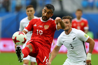 Игрок сборной России Александр Самедов в матче против Португалии
