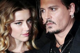 Джонни Депп с супругой Эмбер Херд во время британской премьеры фильма «Черная месса» в Лондоне, октябрь 2015 года