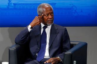 Экс-генеральный секретарь ООН Кофи Аннан во время Мюнхенской конференции