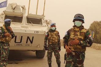 Миротворцы Временных сил ООН в Ливане (UNIFIL), сентябрь 2015 года