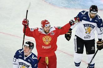 Эпизод матча Россия- Финляндия