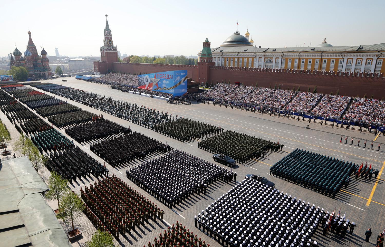 Красная площадь во время генеральной репетиции военного парада Победы, 7 мая 2019 года