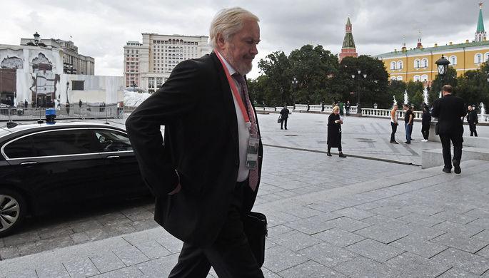 Замминистра финансов России Сергей Сторчак на финансовом форуме в Москве, 2017 год