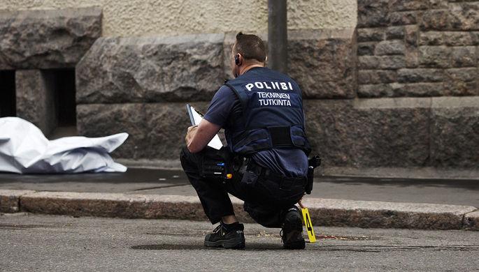 На месте наезда автомобиля на пешеходов в Хельсинки, 28 июля 2017 года