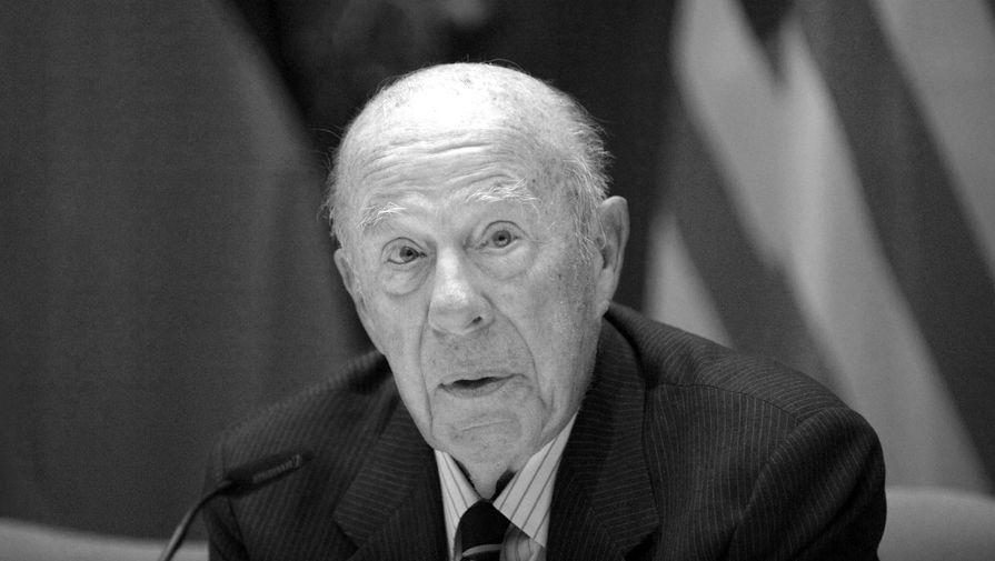 Экс-госсекретарь США Джордж Шульц умер на 101-м году жизни