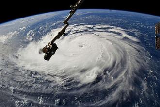 Урагана Флоренс, снимок со спутника, 14 сентября 2018 года