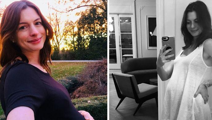 Энн Хэтэуэи во время беременности, 2019 год