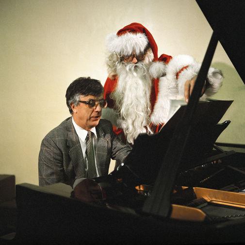 Композитор Раймонд Паулс и Дед Мороз, 1986 год