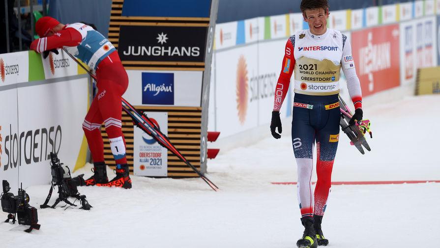 Норвежский лыжник Йоханнес Клебо на чемпионате мира — 2021 в Оберстдорфе