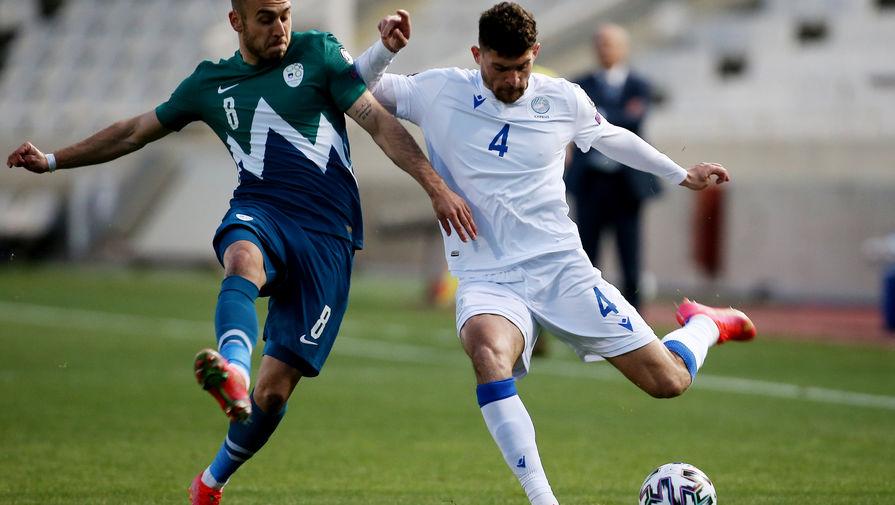 Эпизод матча Кипр- Словения