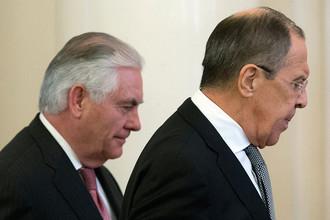 Госсекретарь США Рекс Тиллерсон и министр иностранных дел России Сергей Лавров