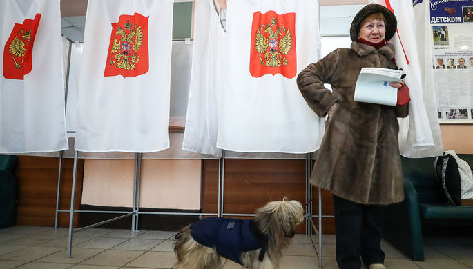 На одном из избирательных участков в Москве, 18 марта 2018 года