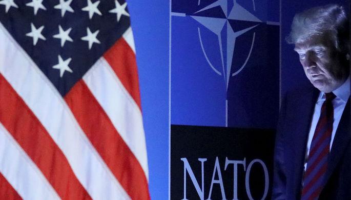 Президент США Дональд Трамп во время саммита НАТО в Брюсселе, 12 июля 2018 года
