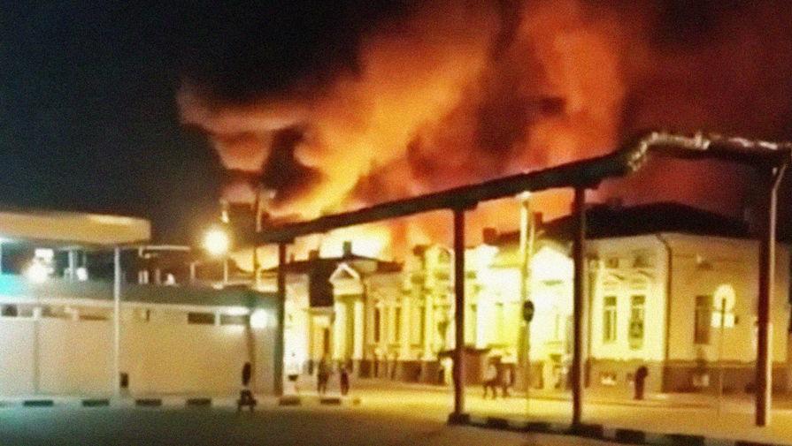 В Харькове загорелся Центральный рынок