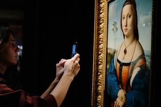 Рафаэль Санти. Портрет Магдалены Строции. 1505–1506 (Палаццо Питти, Флоренция)